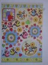 papier pour découpage technique serviette (thème:abris d'oiseau,horloge) 68X48cm