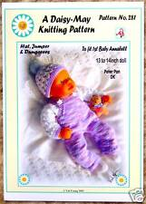DOLLS KNITTING PATTERNS  by Val Young 13-14Ins No 281