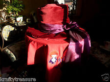 RED & WILD DIVA HAT  SOCIETY  DESIGNER PILLOW HANDMADE 14 - 16 INCHES, Synthetic