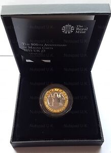 2015 SILVER PROOF £2 800th Anniversary Of The Magna Carta Two Pound Coin