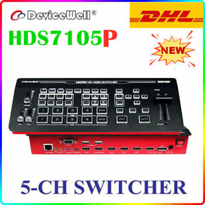 Devicewell HDS7105P Video 5-Channel HD Video Switcher Multi-view Stream 4*HDMI