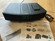 Bose Wave Radio AWR1-2W Black Excellent cond. with instructions & remote control