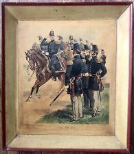 Antique 1800's HA OGDEN FRAMED CIVIL WAR PRINT MAJOR GENERAL STAFF LINE OFFICERS
