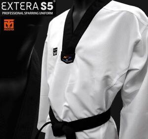 MOOTO EXTERA S5 Taekwondo Uniform (with Black V NECK) WTF Dobok