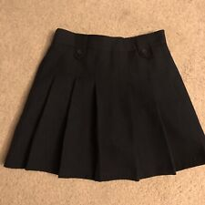 Girls Izod Uniform Skirt, Navy 7