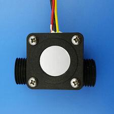 "G1/2"" Square Water Flow Sensor Fluid 1-25L/min Flowmeter Switch Counter Meter"