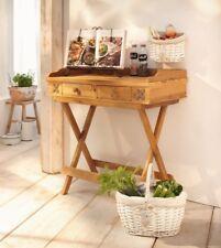 Beistelltisch Konsolentisch Schminktisch Landhaus-Stil Holz warmer Naturton