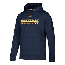 Nashville Predators Adidas Team Script Performance Hoodie Sweatshirt Adult Large