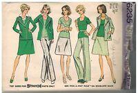 6235 Vintage Simplicity Sewing Pattern Misses Jacket Top Skirt Pants 14 OOP SEW