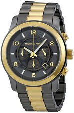 MICHAEL KORS RUNWAY CHRONOGRAPH DATE TWO-TONE ST.STEEL WOMEN'S WATCH MK8160 NEW