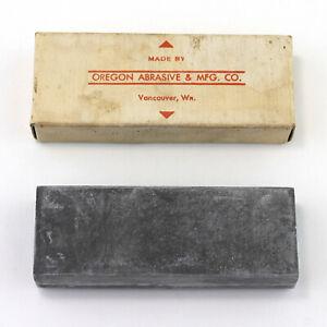 Vtg Whetstone w/ Box Knife Razor Sharpener Stone Oregon Abrasive & Mfg No 35