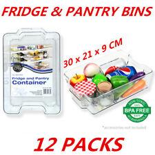 M SET BPA Drawer Fridge Bins Stackable Storage Containers Organisers Bin