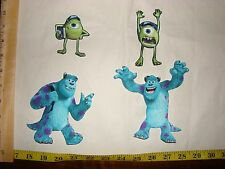 4 pc Monsters Inc University Fabric Applique Iron On Ons Set 1