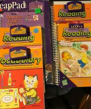 #101 leap pad leap frog system 57-000: 1 new book: 2 used books w/cartridges