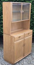 SUPERB MODERN WINDSOR  ERCOL  GLAZED BOOKCASE/CABINET VERY CLEAN  2 MAN DELIVERY