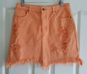 Ladies size 10 ORANGE Denim Skirt - MPD