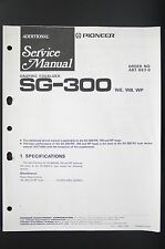 PIONEER sg-300 Graphic Equalizer additional Service-Manual/schema elettrico o80