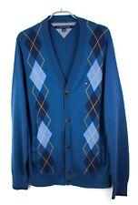 TOMMY HILFIGER Men Front Button Cardigan Jumper Sweater Size 2XL EZ605