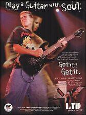 Metallica Kirk Hammett ESP LTD Guitar ad 8 x 11 advertisement print