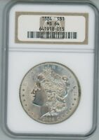 1884 P NGC MS64 Morgan Silver Dollar $1 Better Date 1884-P NGC MS-64