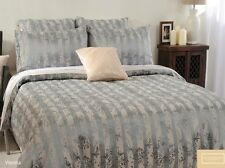 Canterbury Vienna Silver Grey Jacquard KING Size Quilt Doona Cover Set