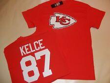 "0112 BOYS Kansas City Chiefs TRAVIS KELCE ""Eligible Receiver"" Jersey Shirt RED"