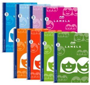 Cuadernos de cubierta básica espiral  de tamaño cuarto 3 mm