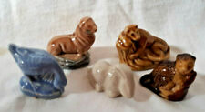 5 pc Wade Red Rose Tea Ceramic Animals (rabbit,goose,beaver,lemu r,sea lion) exl