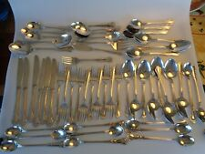 50 PIECES WALLACE STAINLESS PROVINCIAL REPLACEMENT FLATWARE USED SPOONS FORKS KN