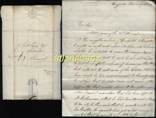 1822 BELFORD p/m Letter Haggerston Mead from  William Johnson to  Alnwick