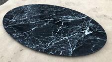 Naturstein Tischplatte grün schwarz geadert oval Couchtisch Steinplatte Marmor
