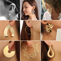 Gothic Fashion Women's Large Circle Geometry Metal Earring Ear Stud Earrings HOT