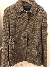 Banana Republic Ladies Brown Tweed Wool Coat Size 10