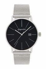 Uhr Armbanduhr Herrenuhr Quarzuhr Gigandet G42-006 Schwarz Silber Metallband