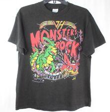 Vtg 1988 Van Halen Monsters Of Rock Concert Tour Black T Shirt Hagar 80s Sz L