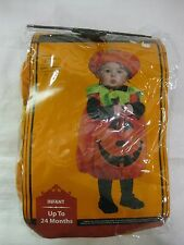 Halloween Costume Pumpkin With Pull Over Tunic & Hat Infant Up To 24 Months   h7