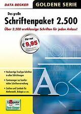 Das große Schriftenpaket 2500 von Data Becker   Software   Zustand sehr gut