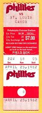 4/25/82 PHILLIES/CARDINALS TICKET STUB-STEVE CARLTON WIN #263