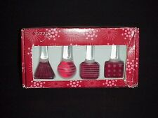 Mikasa Cheers Ruby Bottle Stoppers Christmas In Box Set 4