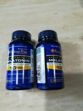 2X Puritan's Pride Melatonin 10 mg Night Time Sleep Aid 120 Capsules