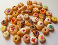 DOLLS HOUSE MINIATURE FOOD 1:12 40 PIECE MIXED SWEET FOOD BUNDLE COMBINED P+P