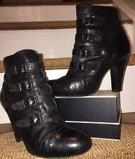 Ash ~ Boucle Motard Cheville Bottes en cuir noir EU37 UK4