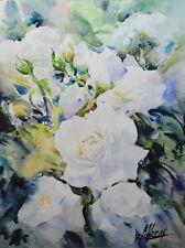 Contemporary Art/ Original Painting by American Artist M.Hee / Rose Flowers