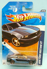 2170 HOT WHEELS / CARTE US / FASTER THAN EVER 2010 /FORD MUSTANG GT NOIRE 1/64
