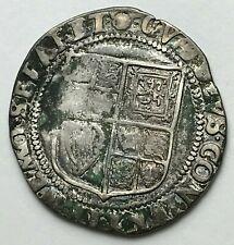 Hammered Coin - Silver Shilling - King James I - Rose Mint Mark One Shilling
