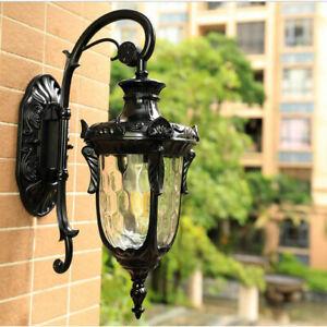 Vintage Outdoor Wall Light waterproof IP65 Glass Wall Sconce Garden Wall Lamp
