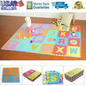 36PC Alphabet Numbers EVA Floor Play Mat Baby Kids Room Jigsaw ABC foam Puzzle