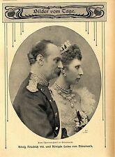 König Friedrich VIII. & Königin Luise von Dänemark c.1906