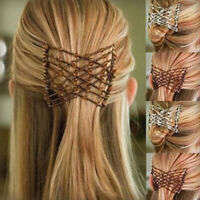 Magic Hair Stretchable Hairpin Slide Double Beads Women Stretchy Hair Comb