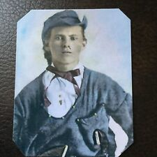 """Jesse James """"Rare Dressed"""" as a Quantrill Guerilla  Colorized tintype C749RP"""